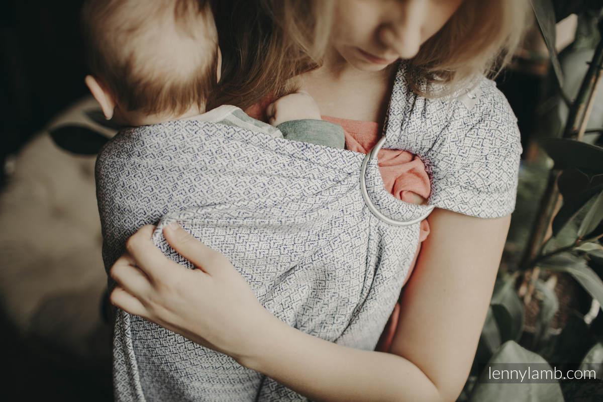 Ringsling, Jacquard Weave (100% cotton) - NOVA - LittleLove KUBA - standard 1.8m #babywearing