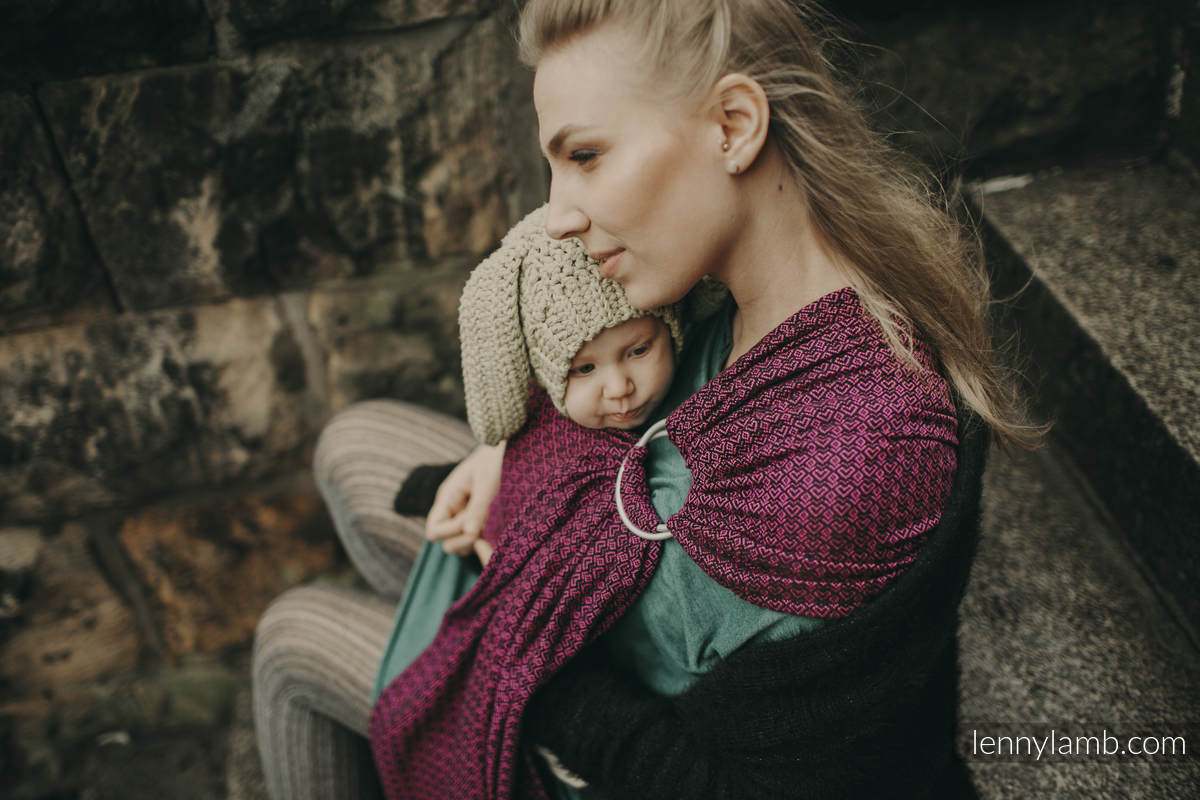 Ringsling, Jacquard Weave (100% cotton) - with gathered shoulder -  NOVA - LittleLove LENA- standard 1.8m #babywearing