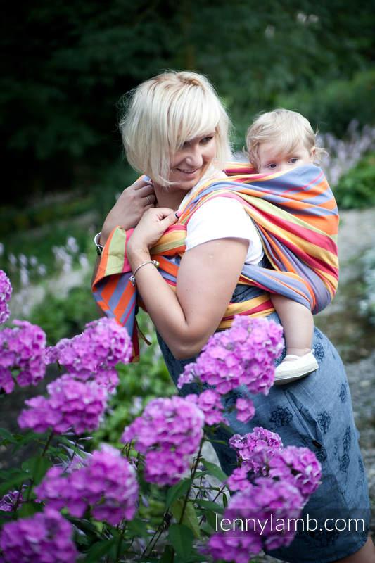 Baby Sling, Broken Twill Weave (100% cotton) - ZUMBA ORANGE - size XS #babywearing