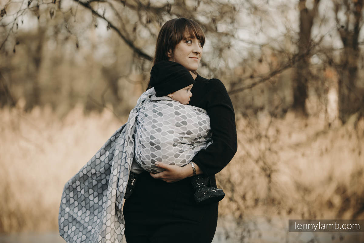 Ringsling, Jacquard Weave (100% cotton) - with gathered shoulder - NOVA - Joyful Time ANTEK - long 2.1m (grade B) #babywearing