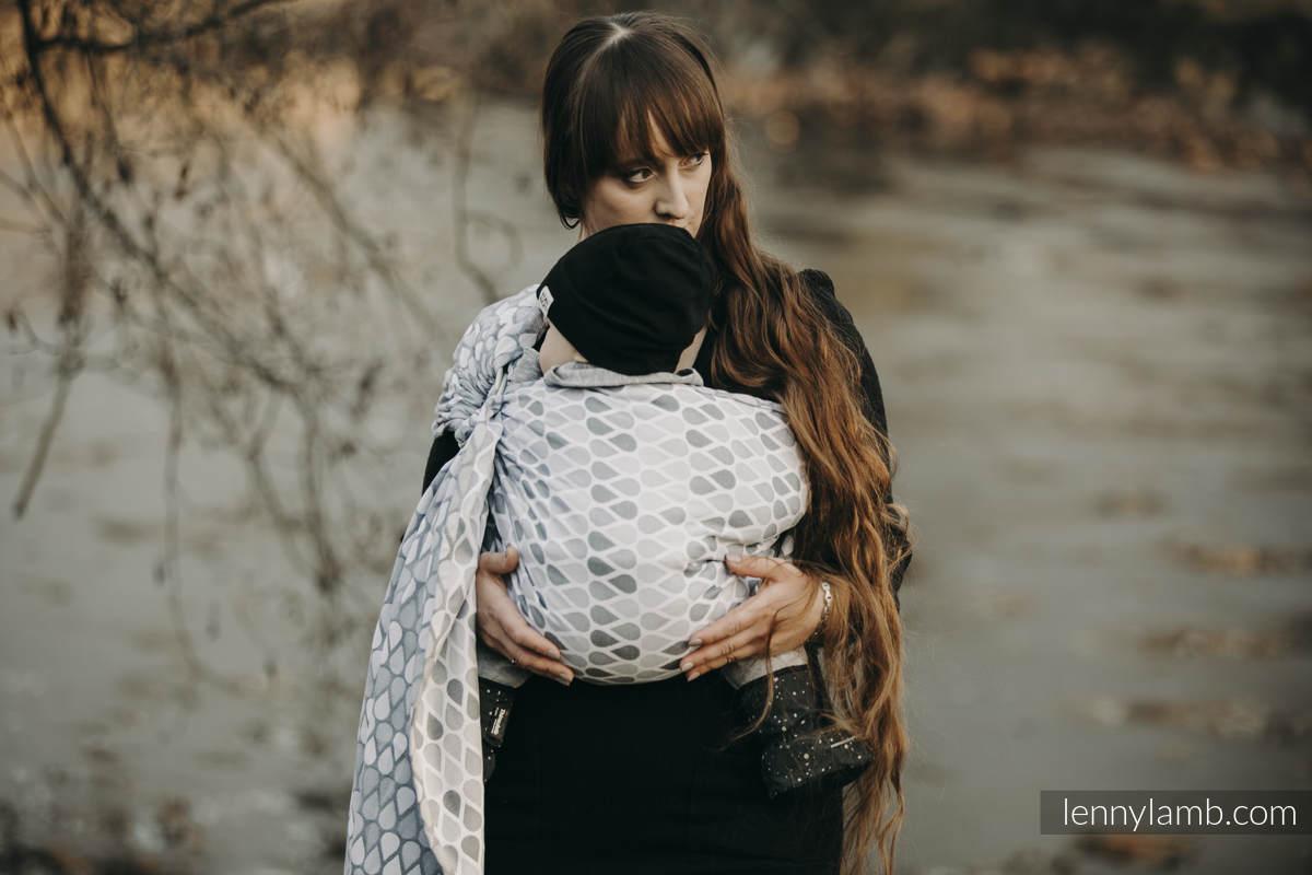 Ringsling, Jacquard Weave (100% cotton) - with gathered shoulder - NOVA - Joyful Time ANTEK - standard 1.8m #babywearing