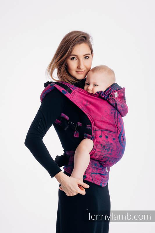 Nosidełko Ergonomiczne z tkaniny żakardowej 43% bawełna, 57% wełna merino, Baby Size, SYMFONIA PRAGNIENIE, Druga Generacja #babywearing