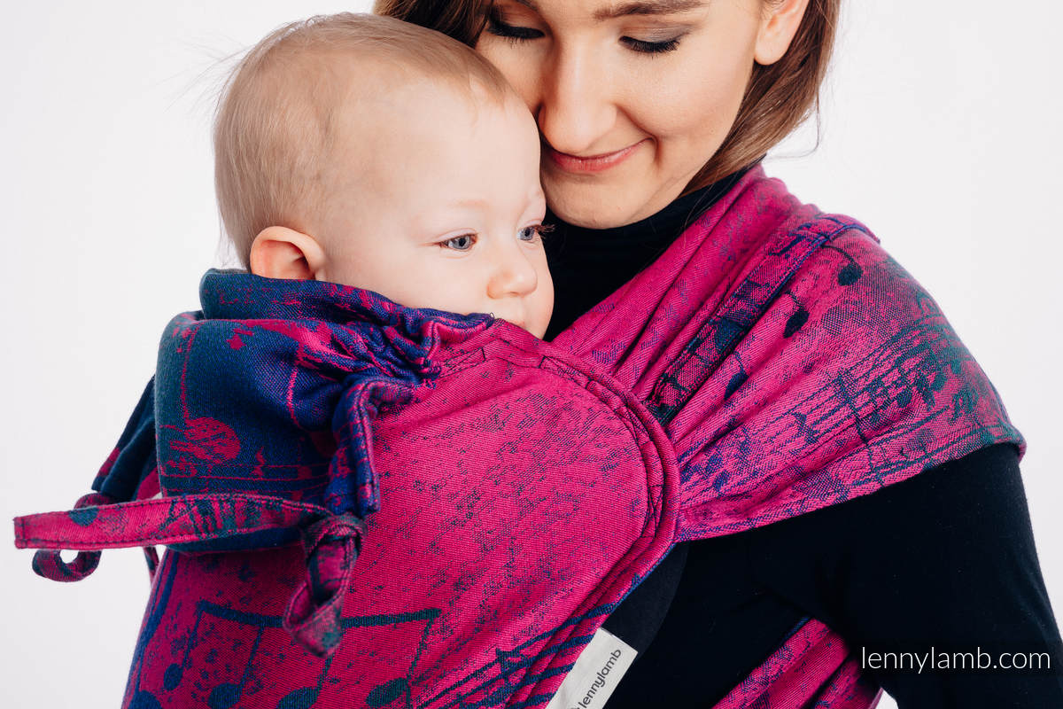 WRAP-TAI carrier Mini with hood/ jacquard twill / 43% cotton, 57% Merino wool - SYMPHONY DESIRE #babywearing