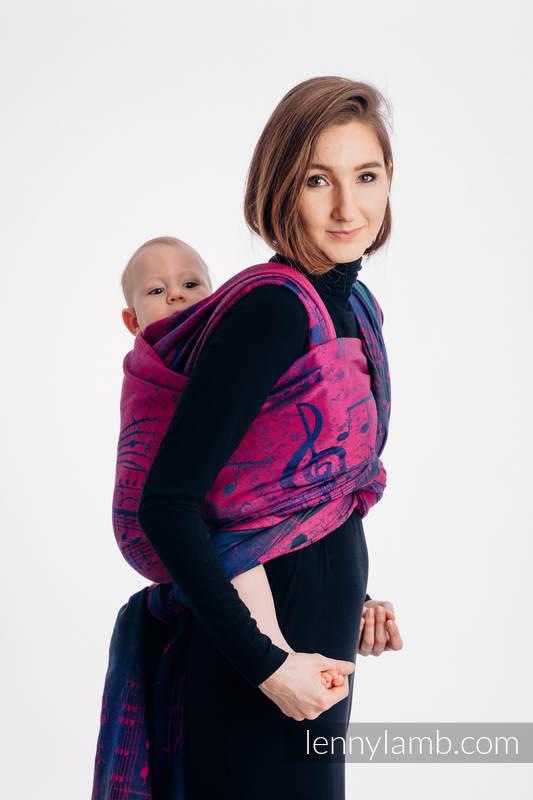 Tragetuch, Jacquardwebung (43% Baumwolle,57% Merinowolle) - SYMPHONY DESIRE - Größe M #babywearing