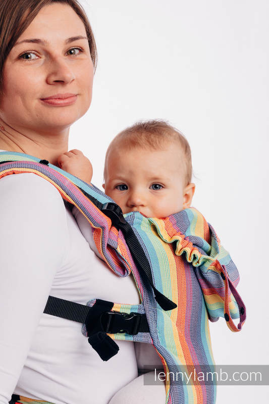 LennyGo Ergonomic Carrier, Baby Size, broken-twill weave 100% cotton - wrap conversion from LUNA #babywearing
