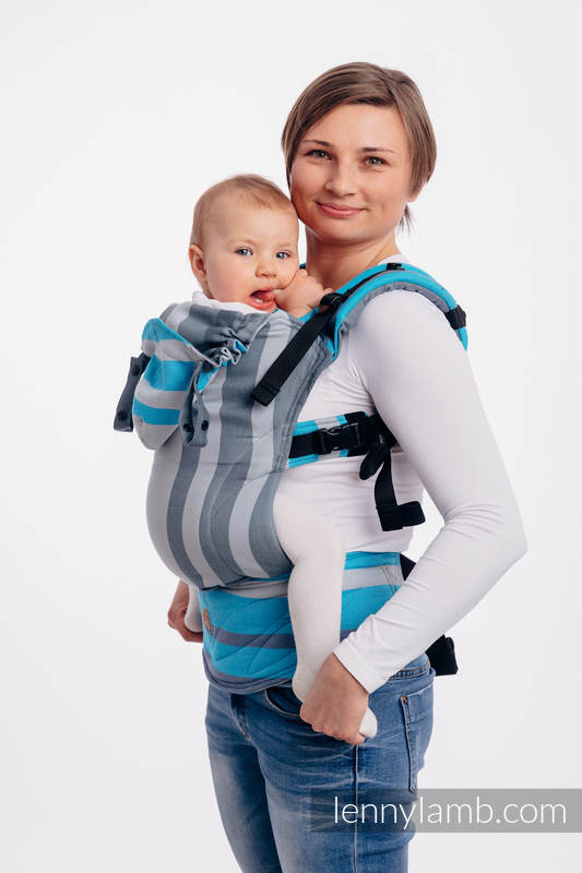 LennyGo Ergonomic Carrier, Baby Size, broken-twill weave 100% cotton - wrap conversion from MISTY MORNING #babywearing