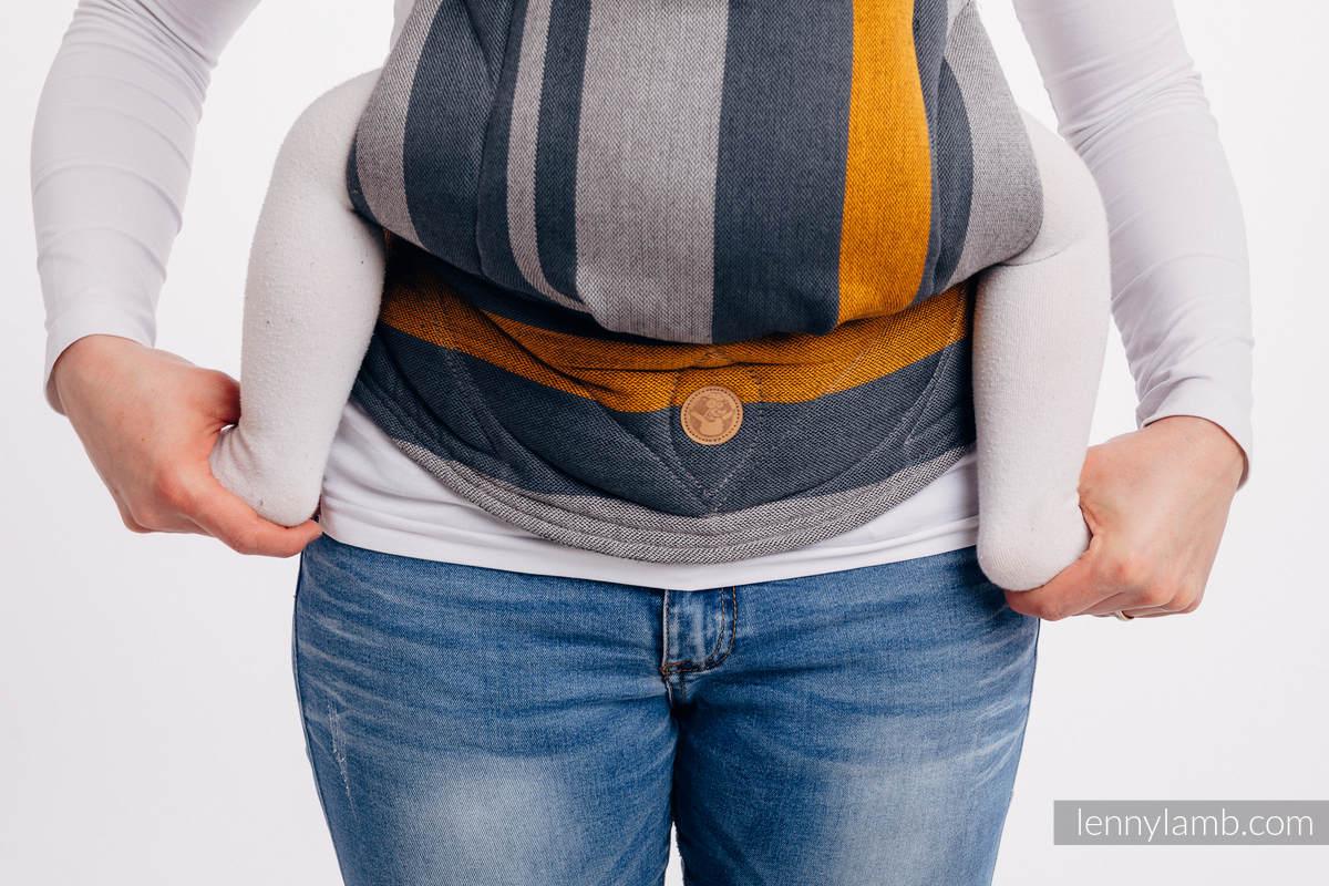 LennyGo Mochila ergonómica, talla toddler, sarga cruzada 100% algodón - SMOKY - HONEY #babywearing