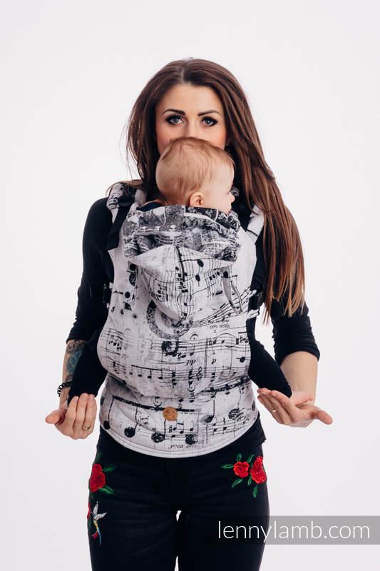 LennyGo Ergonomic Carrier, Baby Size, jacquard weave 100% cotton - wrap conversion from SYMFONIA KLASYCZNA #babywearing