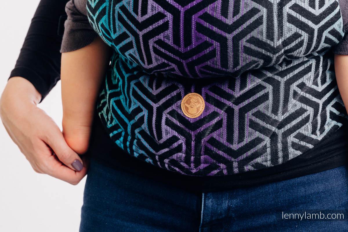 Nosidełko Ergonomiczne  LennyGo z tkaniny żakardowej 100% bawełna , rozmiar Baby - TRINITY KOSMOS (drugi gatunek) #babywearing