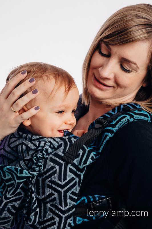 LennyGo Ergonomic Carrier, Baby Size, jacquard weave 100% cotton - TRINITY COSMOS (grade B) #babywearing