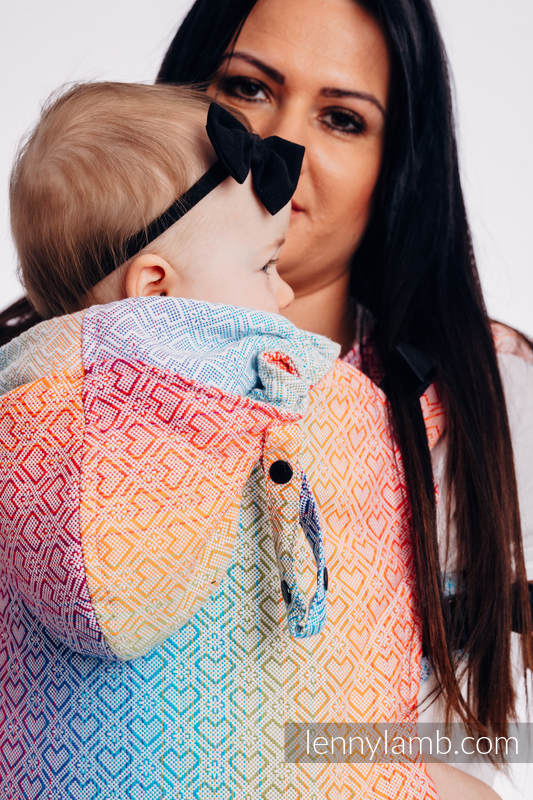 LennyGo Ergonomic Carrier, Baby Size, jacquard weave 100% cotton - wrap conversion from BIG LOVE - TĘCZA #babywearing