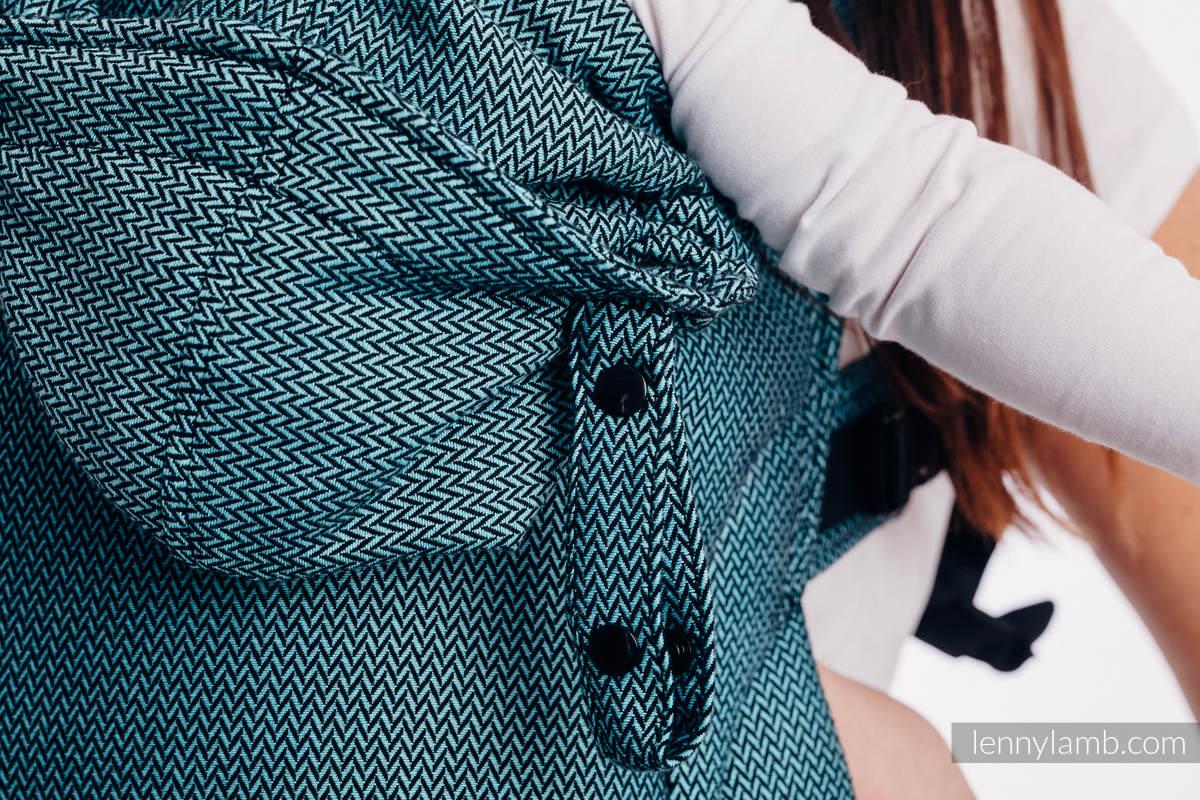 LennyGo Basic Line Ergonomic Carrier - AMAZONITE, Toddler Size, herringbone weave 100% cotton  #babywearing