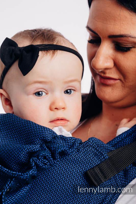 LennyGo Basic Line Ergonomic Carrier,  Baby Size, herringbone weave 100% cotton - COBALT #babywearing