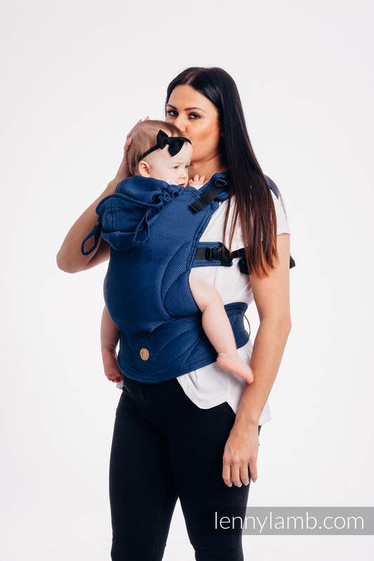 LennyGo Basic Line Ergonomic Carrier,  Baby Size, herringbone weave 100% cotton - wrap conversion from COBALT #babywearing