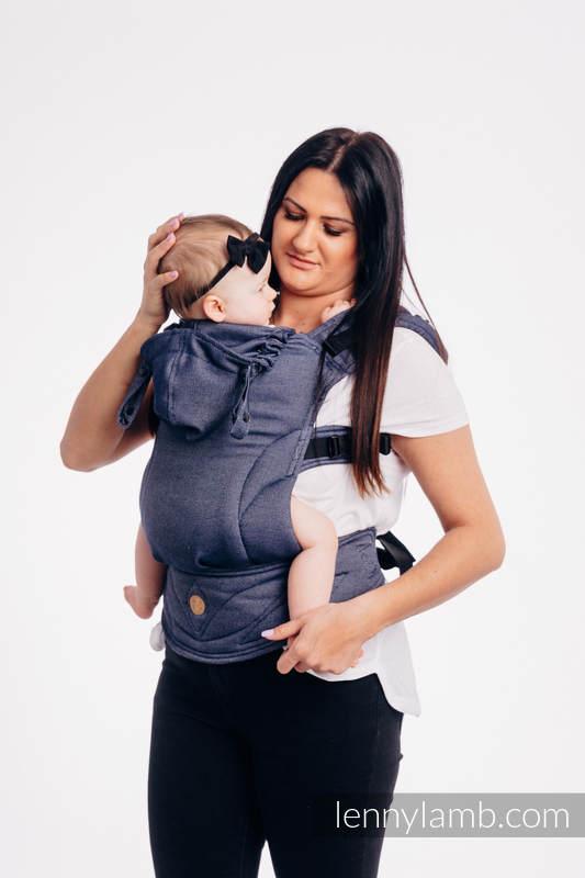 LennyGo Mochila Ergonómica Línea Básica- JEANS, Talla Baby, tejido satinado 100% algodón  #babywearing