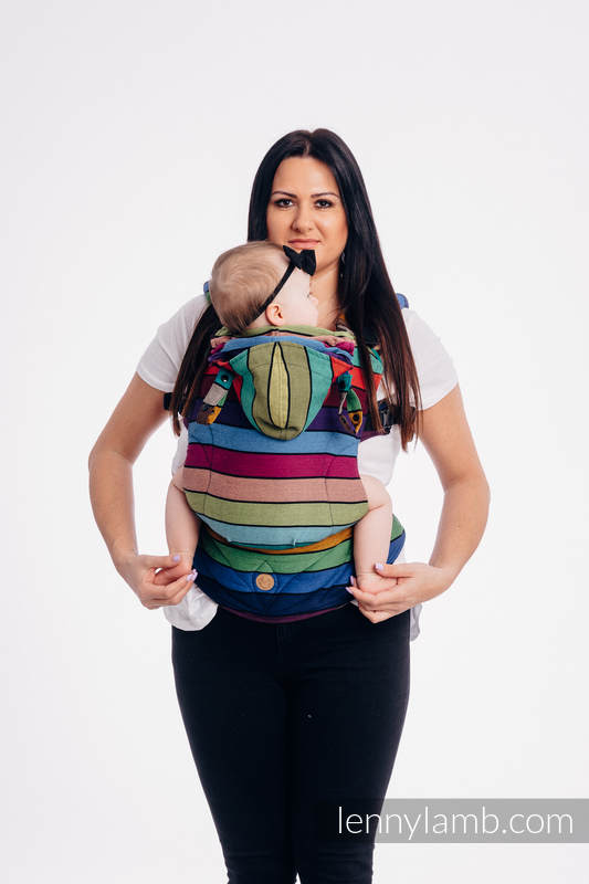 LennyGo Ergonomic Carrier, Baby Size, broken-twill weave 100% cotton - CAROUSEL OF COLORS #babywearing