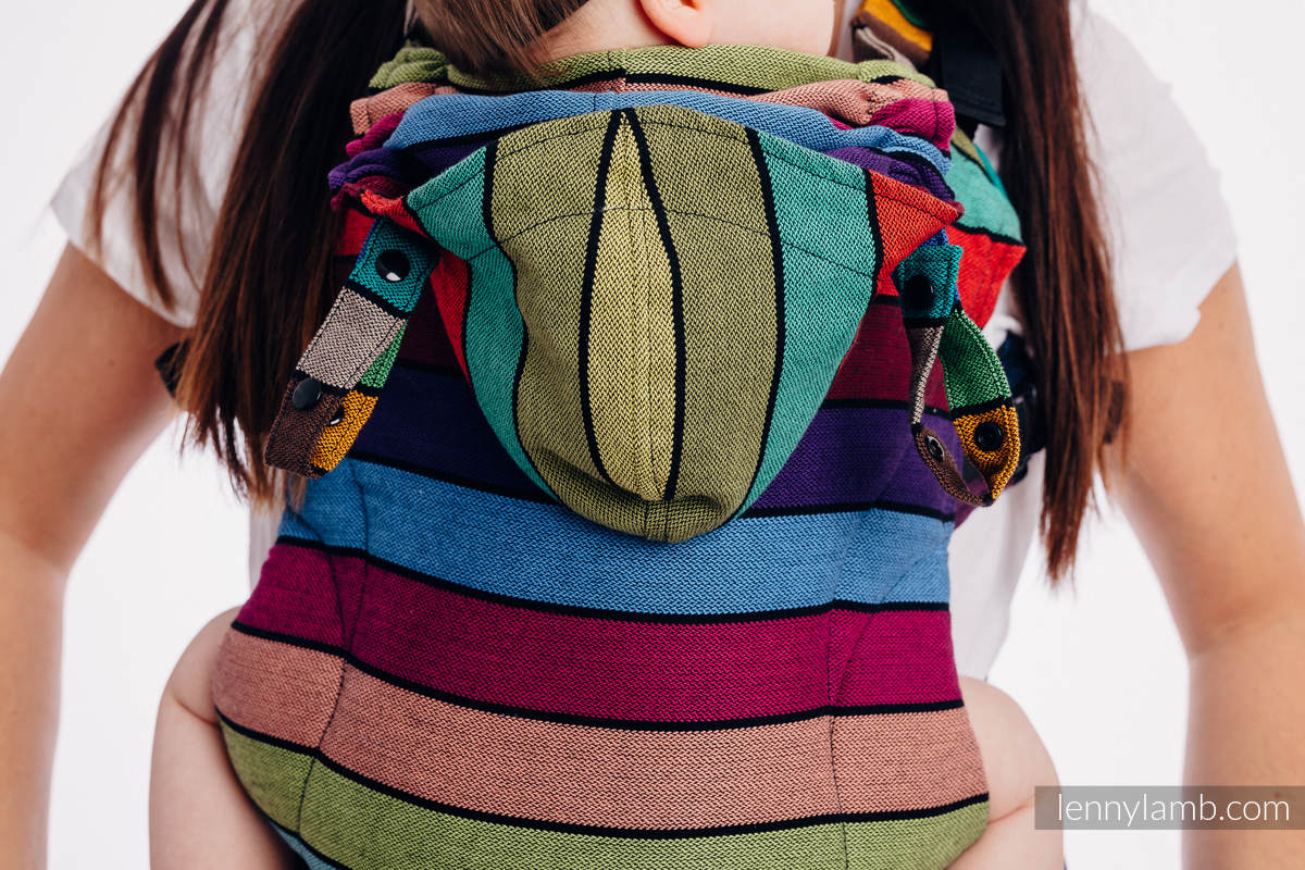 LennyGo Ergonomic Carrier, Baby Size, broken-twill weave 100% cotton - wrap conversion from CAROUSEL OF COLORS #babywearing