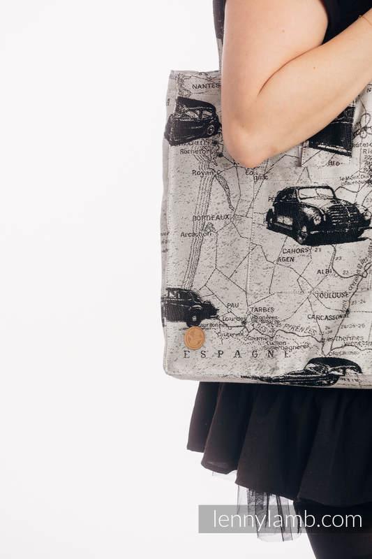 Torba na ramię z materiału chustowego, (100% bawełna)  - DROGI MARZEŃ- rozmiar uniwersalny 37cm x 37cm #babywearing