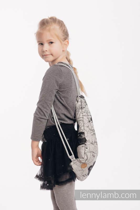 Mochila portaobjetos hecha de tejido de fular (100% algodón) - ROAD  DREAMS - talla estándar 32cm x 43cm #babywearing