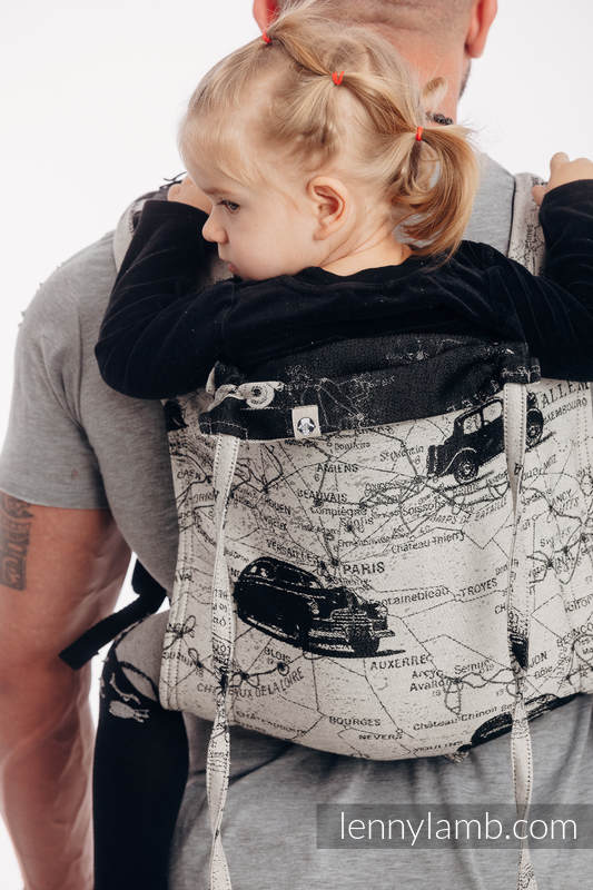 Lenny Buckle Onbuhimo, standard size, jacquard weave (100% cotton) - Wrap conversion from ROAD DREAMS #babywearing