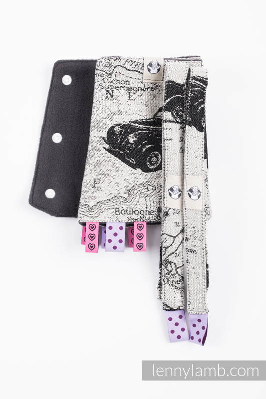 Drool Pads & Reach Straps Set, (60% cotton, 40% polyester) - ROAD DREAMS #babywearing