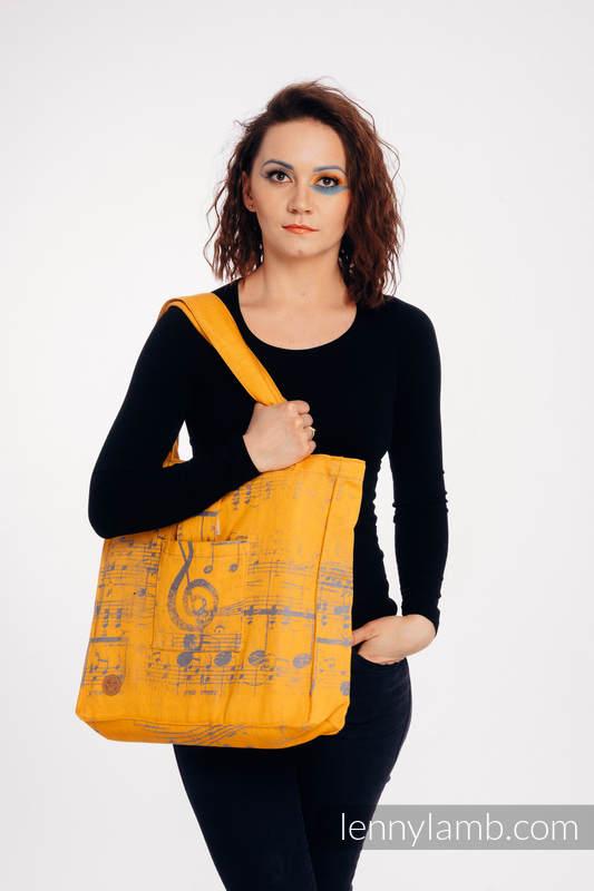 Schultertasche, hergestellt vom gewebten Stoff (100% Baumwolle) - SYMPHONY - SUN GIFT - Standard Größe 37cmx37cm #babywearing
