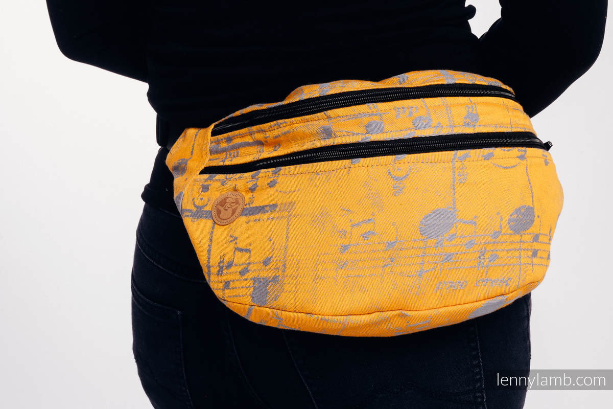 Waist Bag made of woven fabric, size large (100% cotton) - SYMPHONY  - SUN GIFT  #babywearing