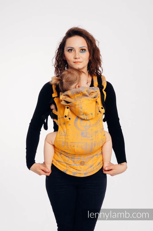 LennyGo Ergonomische Tragehilfe, Größe Baby, Jacquardwebung, 100% Baumwolle - SYMPHONY - SUN GIFT #babywearing