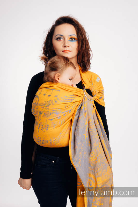 Ringsling, Jacquard Weave (100% cotton) - with gathered shoulder - SYMPHONY  - SUN GIFT  #babywearing