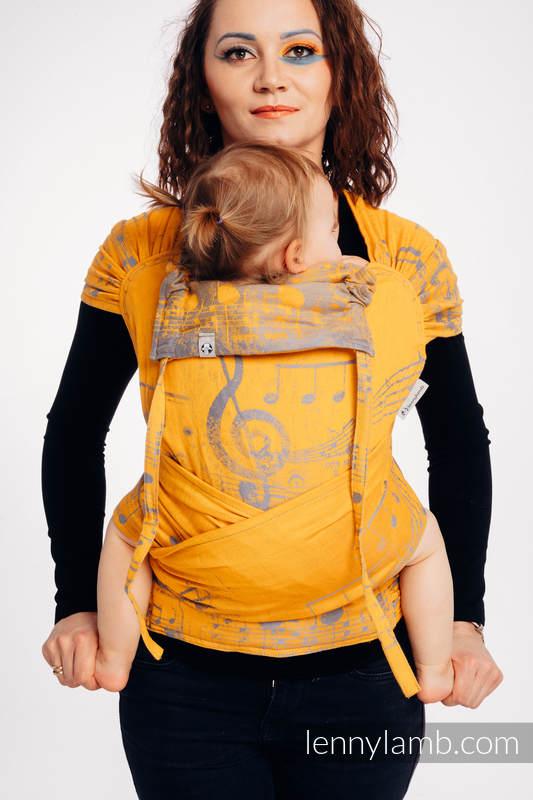 WRAP-TAI carrier Mini with hood/ jacquard twill / 100% cotton / SYMPHONY - SUN GIFT  #babywearing