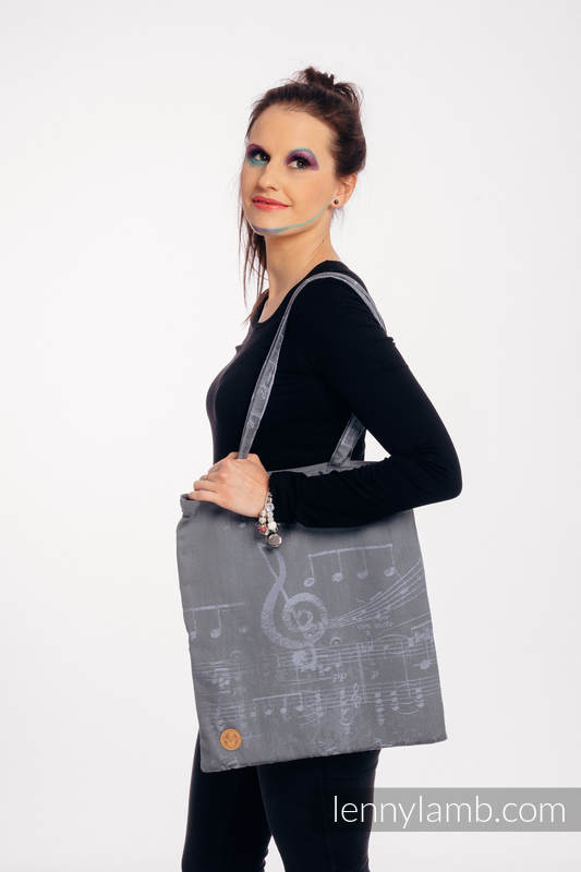 Shopping bag made of wrap fabric (100% cotton) - SYMPHONY - THE KING OF FRUITS #babywearing