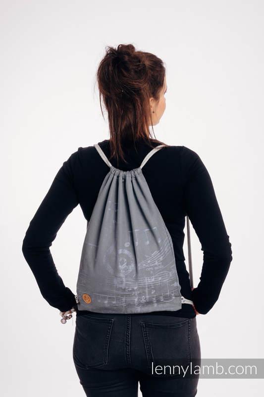 Mochila portaobjetos hecha de tejido de fular (100% algodón) - SYMPHONY - THE KING OF FRUITS  - talla estándar 32cmx43cm #babywearing