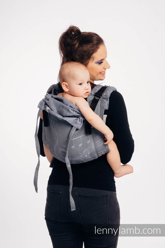 Lenny Buckle Onbuhimo baby carrier, standard size, jacquard weave (100% cotton) - SYMPHONY  - THE KING OF FRUITS #babywearing