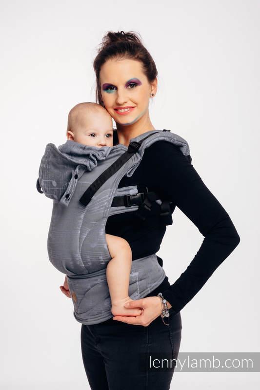 LennyGo Ergonomische Tragehilfe, Größe Baby, Jacquardwebung, 100% Baumwolle - SYMPHONY - THE KING OF FRUITS #babywearing