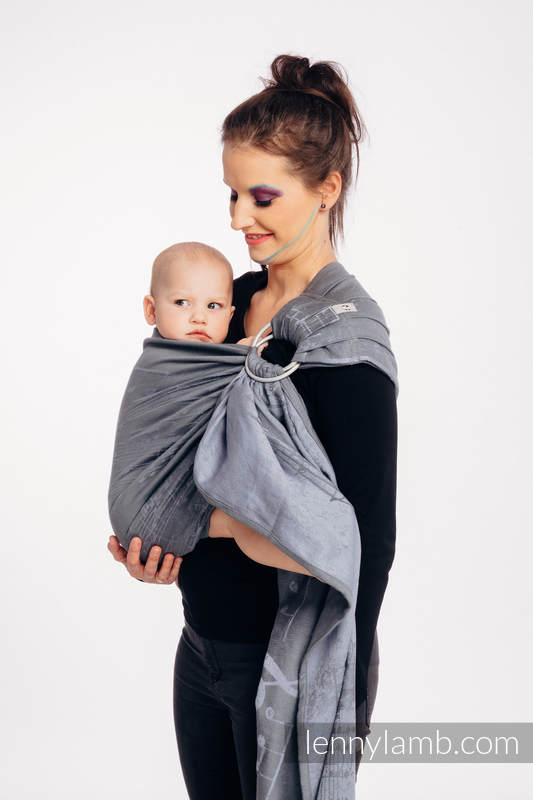 Ringsling, Jacquard Weave (100% cotton) - with gathered shoulder - SYMPHONY  - THE KING OF FRUITS - long 2.1m (grade B) #babywearing