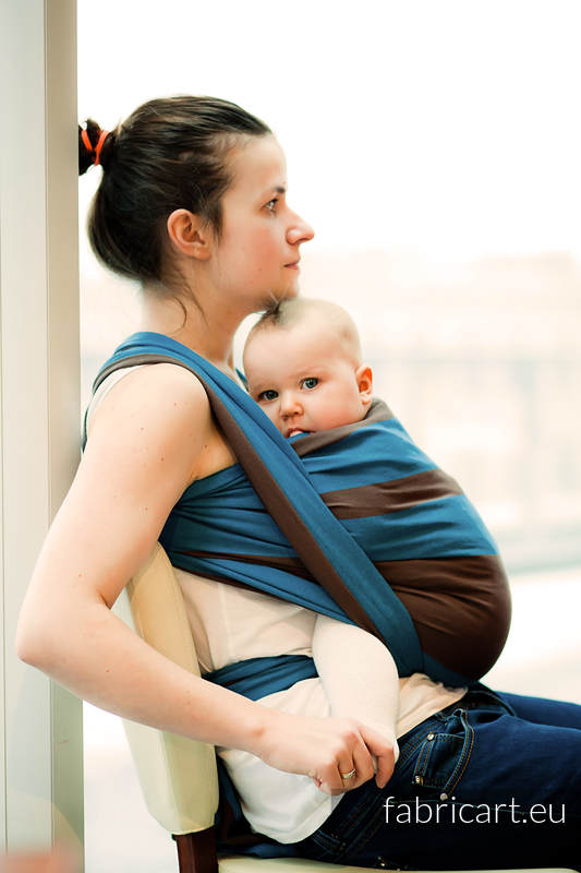 Baby Sling, Broken Twill Weave, 100% cotton - Forest Dew - size M #babywearing