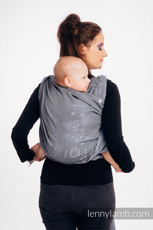Baby Wrap, Jacquard Weave (100% cotton) - SYMPHONY - THE KING OF FRUITS - size XS #babywearing