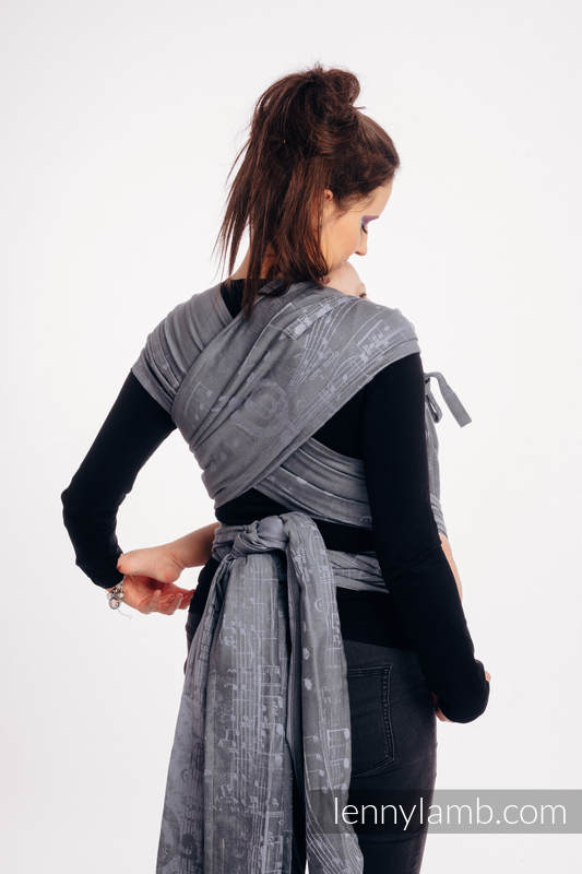 WRAP-TAI carrier Mini with hood/ jacquard twill / 100% cotton / SYMPHONY - THE KING OF FRUITS #babywearing