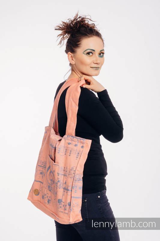 Shoulder bag made of wrap fabric (100% cotton) - SYMPHONY - PARADISE CITRUS - standard size 37cmx37cm #babywearing