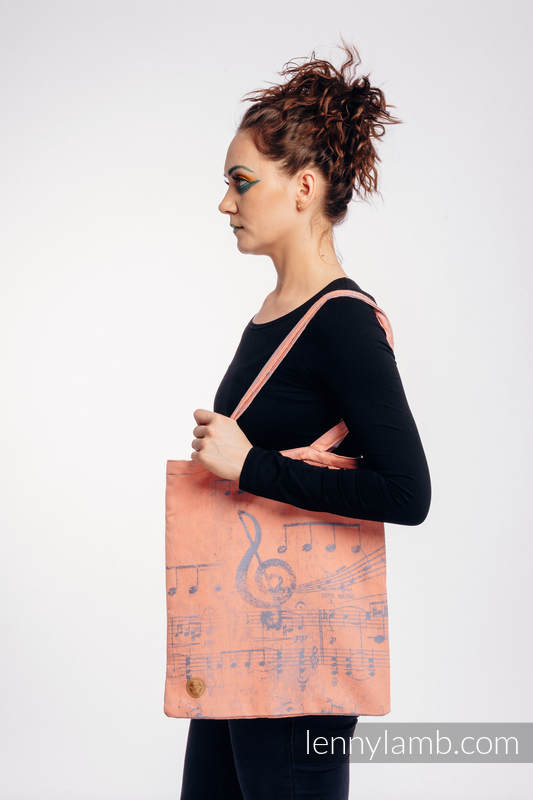 Shopping bag made of wrap fabric (100% cotton) - SYMPHONY - PARADISE CITRUS  #babywearing