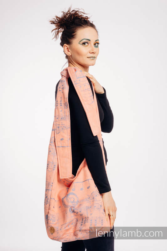 Hobo Bag made of woven fabric, 100% cotton - SYMPHONY - PARADISE CITRUS  #babywearing
