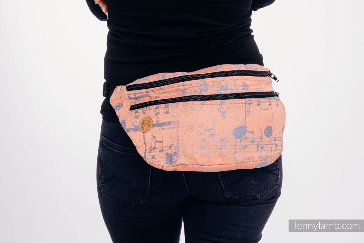 Waist Bag made of woven fabric, size large (100% cotton) - SYMPHONY  - PARADISE CITRUS  #babywearing