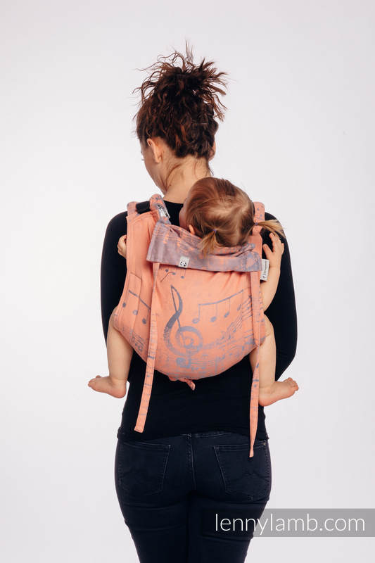 Lenny Buckle Onbuhimo, standard size, jacquard weave (100% cotton) - Wrap conversion from SYMPHONY  - PARADISE CITRUS  #babywearing