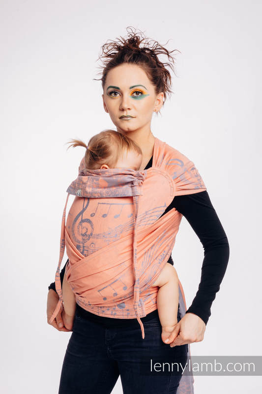 WRAP-TAI carrier Mini with hood/ jacquard twill / 100% cotton / SYMPHONY - PARADISE CITRUS  #babywearing