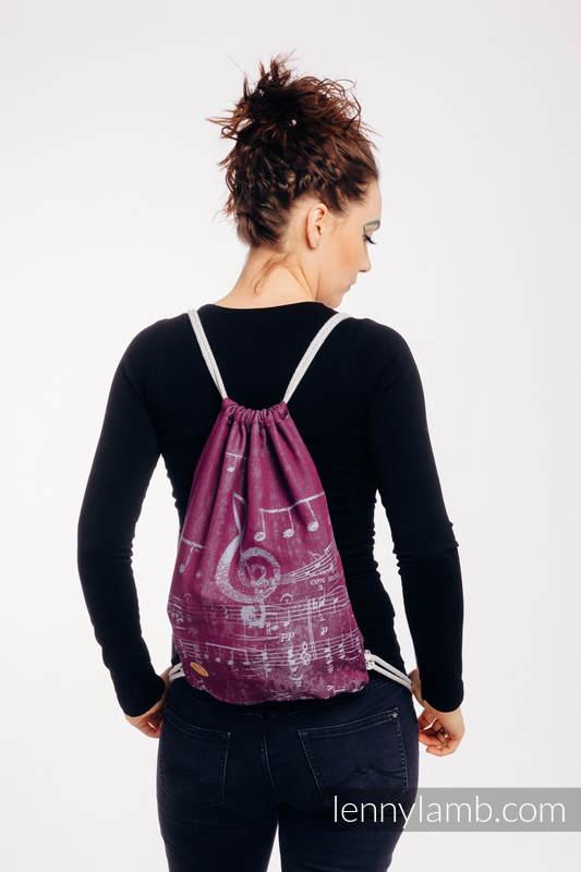Plecak/worek - 100% bawełna - SYMFONIA - THE PEAR OF LOVE - uniwersalny rozmiar 32cmx43cm #babywearing