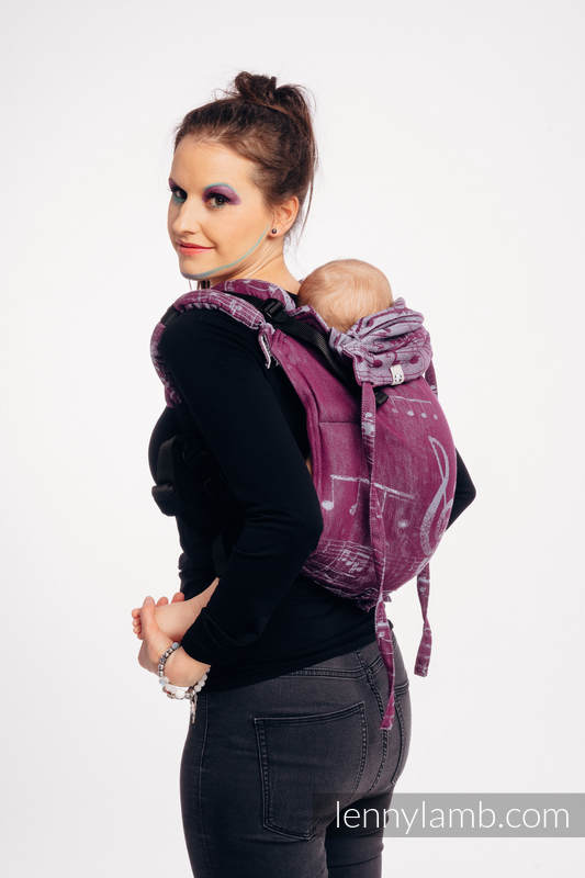 Lenny Buckle Onbuhimo baby carrier, standard size, jacquard weave (100% cotton) - SYMPHONY  - THE PEAR OF LOVE #babywearing