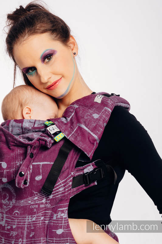 LennyGo Ergonomic Carrier, Baby Size, jacquard weave 100% cotton - wrap conversion from SYMPHONY - THE PEAR OF LOVE #babywearing