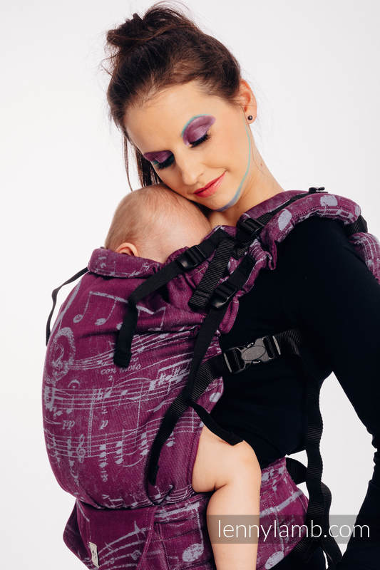 LennyUp Carrier, Standard Size, jacquard weave 100% cotton - SYMPHONY - THE PEAR OF LOVE #babywearing