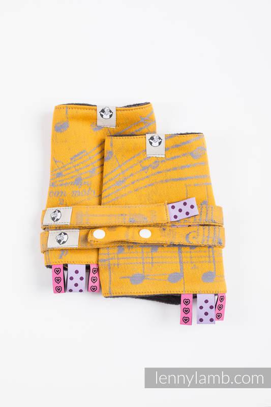 Drool Pads & Reach Straps Set, (60% cotton, 40% polyester) - SYMPHONY - SUN GIFT  #babywearing