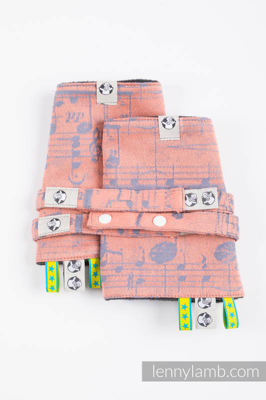 Schultergurtschoner (60% Baumwolle, 40% poliester) - SYMPHONY -PARADISE CITRUS #babywearing